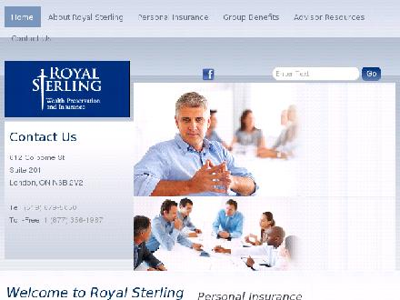 Peter Kennedy Insurance Brokers Inc o/a Royal Sterling Wealth Preservation & Insurance (519-679-5050) - Onglet de site Web - http://www.royalsterling.ca