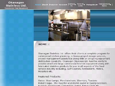 Okanagan Stainless & Commercial Food Equipment (250-765-6549) - Onglet de site Web - http://www.okanaganstainless.com