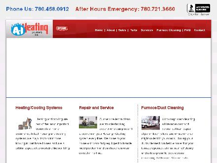 A-1 Heating St Albert Ltd (780-458-4128) - Website thumbnail - http://www.a1heating.ca