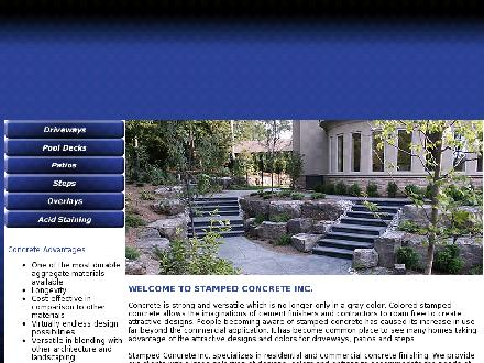 Stamped Concrete Inc (905-849-9293) - Onglet de site Web - http://www.stampedconcreteinc.com