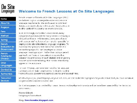 On Site Languages (416-960-8764) - Website thumbnail - http://www.onsitelanguages.com