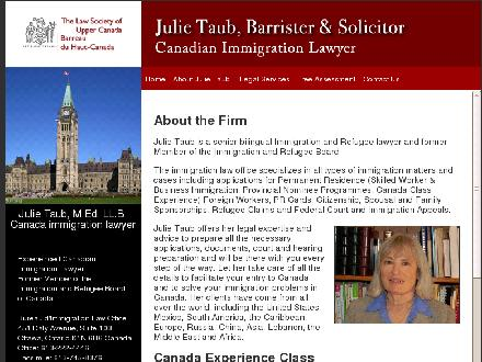 Taub Julie Immigration Lawyer (613-222-4446) - Onglet de site Web - http://www.julietaubimmigrationlaw.com/