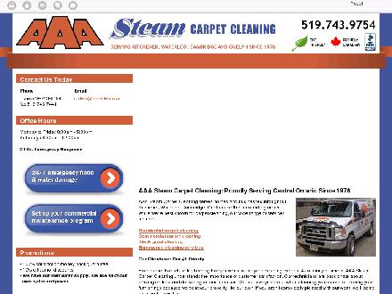 AAA Steam Carpet Cleaning Ltd (519-743-9754) - Onglet de site Web - http://aaa-clean.co/