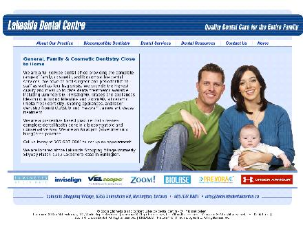 Lakeside Dental Centre (905-637-0801) - Onglet de site Web - http://www.lakesidedentalcentre.ca