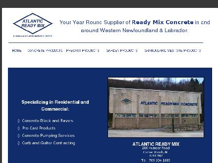 Atlantic Ready Mix (709-634-1885) - Onglet de site Web - http://www.atlanticreadymix.com