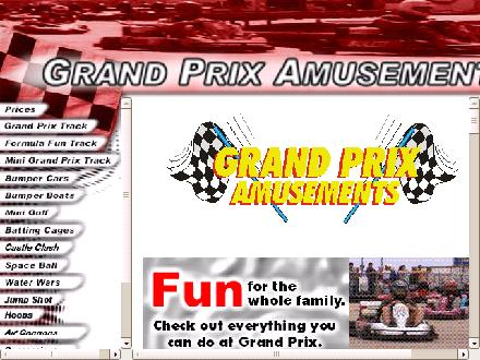 Grand Prix Amusements Ltd (204-254-3644) - Onglet de site Web - http://www.grandprixamusements.com