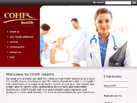 COHR Health Inc (403-243-1122) - Onglet de site Web - http://www.cohrhealth.com