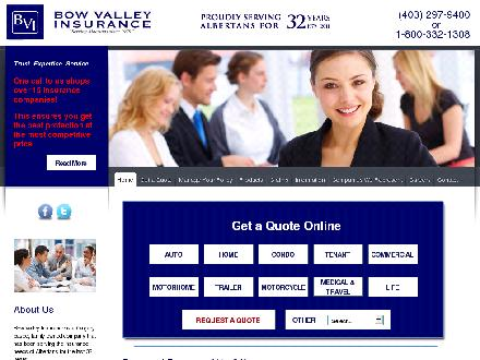 Bow Valley Insurance Services Ltd (587-327-5983) - Website thumbnail - http://www.bvinsurance.ca