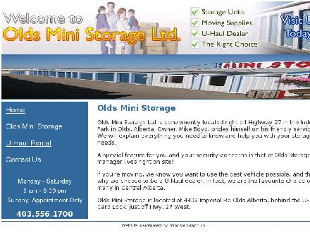 Olds Mini Storage Ltd (403-507-4073) - Website thumbnail - http://www.oldsministorage.com