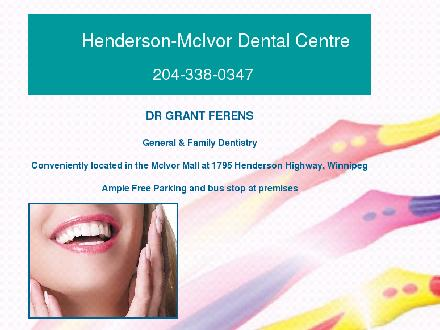 McIvor Dental Centre (204-338-0347) - Website thumbnail - http://www.northkildonandentist.com