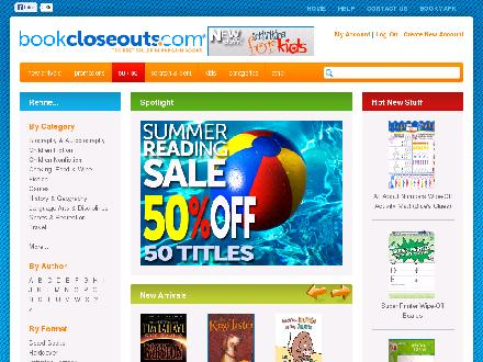 bookcloseouts.com - Website thumbnail - http://www.bookcloseouts.com