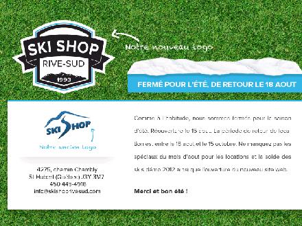 Ski Shop Rive Sud (450-445-4916) - Onglet de site Web - http://www.skishoprivesud.com