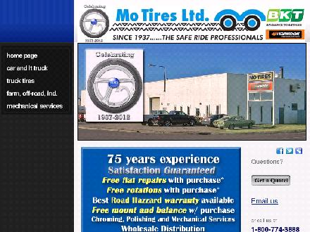 Mo-Tires Ltd (403-332-6408) - Onglet de site Web - http://www.mo-tires.com