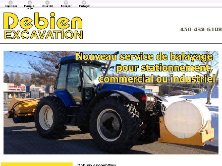 Debien Excavation (450-438-6108) - Onglet de site Web - http://debienexcavation.ca/
