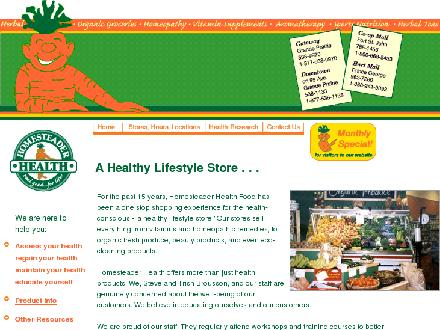 Homesteader Health Foods Ltd (250-785-1455) - Website thumbnail - http://www.homesteaderhealth.com