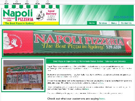 Napoli Pizzeria (902-539-6109) - Website thumbnail - http://sydneynapolipizza.ca