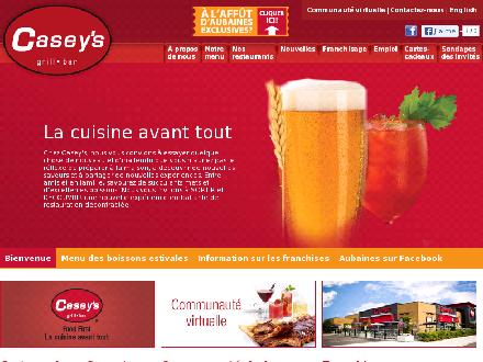 Casey's (450-676-1222) - Onglet de site Web - http://www.dix30.caseysrestobar.com