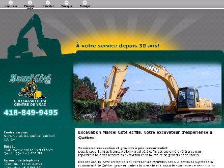 Excavation Marcel Côté & Fils Inc (418-849-9495) - Website thumbnail - http://excavationmarcelcote.com