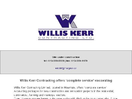 Willis Kerr Contracting Ltd (613-989-5509) - Onglet de site Web - http://www.williskerrcontracting.com
