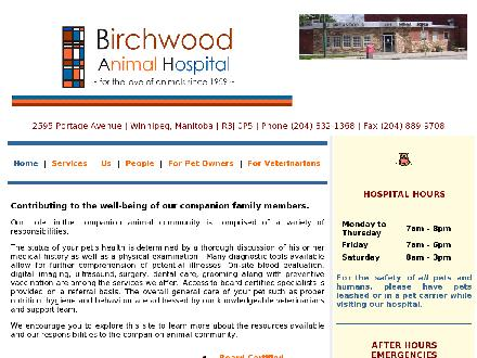 Birchwood Animal Hospital (204-832-1368) - Website thumbnail - http://www.birchwoodvet.com
