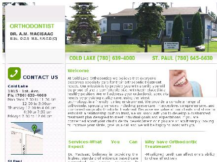 MacIsaac Anthony Dr (780-639-0715) - Website thumbnail - http://www.coldlakeortho.com