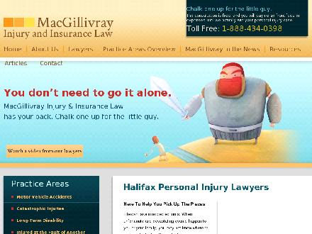 MacGillivray Injury and Insurance Law (1-877-626-3161) - Onglet de site Web - http://www.nslegal.com