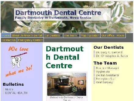 Dartmouth Dental Centre (902-405-8242) - Onglet de site Web - http://www.dartmouthdental.ca