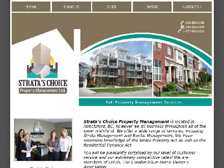 Strata's Choice Property Management Ltd (604-864-6400) - Onglet de site Web - http://www.strataschoice.com