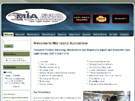 Mid Island Automotive Repairs (250-756-7871) - Website thumbnail - http://www.midislandautomotive.com