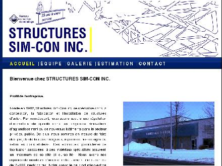 Structures Sim-Con Inc (450-658-8514) - Website thumbnail - http://www.structuressimcon.com