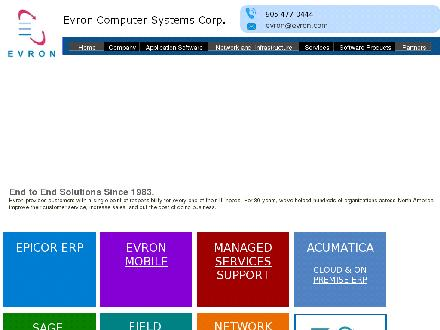 Evron Computer Systems Corp (905-477-0444) - Onglet de site Web - http://www.evron.com
