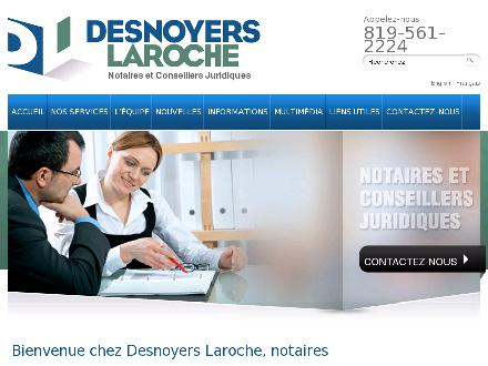 Desnoyers Laroche Notaires (819-410-0020) - Onglet de site Web - http://www.desnoyerslaroche.com