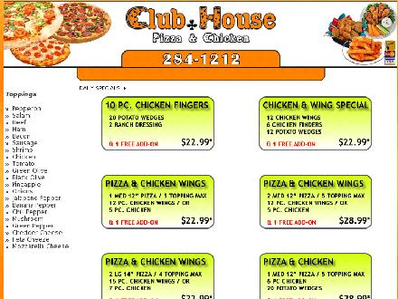 Club House Pizza (204-284-1212) - Onglet de site Web - http://www.clubhousepizza.ca