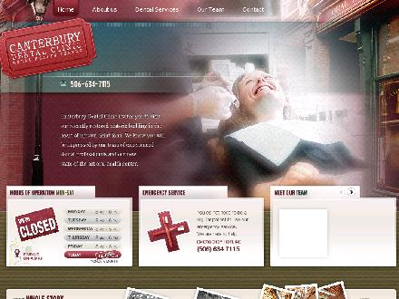 Canterbury Dental (506-634-7115) - Onglet de site Web - http://www.canterburydental.ca