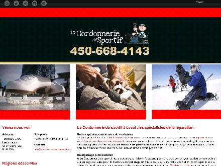 Cordonnerie Du Sportif (450-668-4143) - Onglet de site Web - http://cordonneriedusportif.ca/