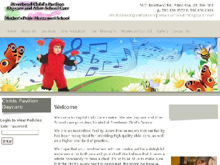 Riverbend Child's Pavilion (780-438-4572) - Onglet de site Web - http://www.riverbendchildspavilion.com