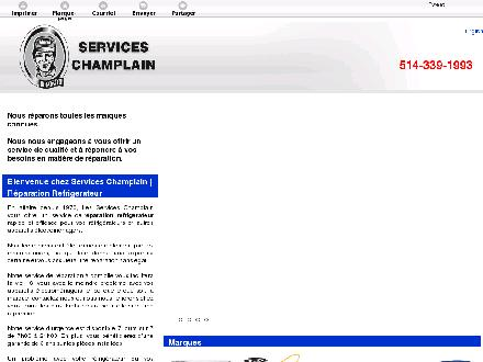 Services Champlain (Les) (450-632-4646) - Onglet de site Web - http://www.reparationrefrigerateurgo.com