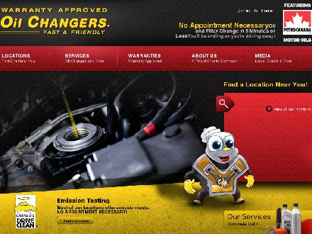 Oil Changers (613-342-5562) - Website thumbnail - http://www.oilchangers.ca