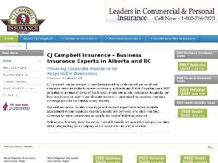CJ Campbell Insurance (403-230-1521) - Onglet de site Web - http://www.cjcampbell.com