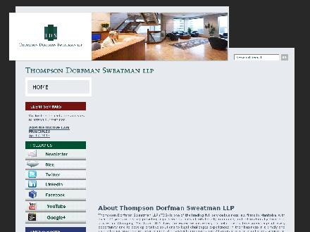 Thompson Dorfman Sweatman LLP (204-957-1930) - Onglet de site Web - http://www.tdslaw.com