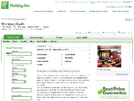 Holiday Inn Winnipeg South (204-452-4747) - Onglet de site Web - http://www.winnipeg-south.holiday-inn.com