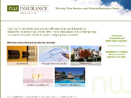 N W Insurance Brokers Ltd (604-602-1931) - Onglet de site Web - http://www.nwinsurance.ca/