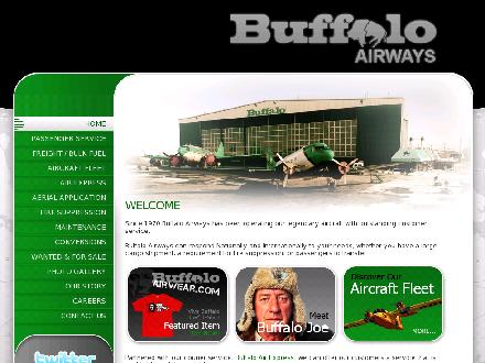 Buffalo Airways Ltd (867-874-3333) - Onglet de site Web - http://www.buffaloairways.com
