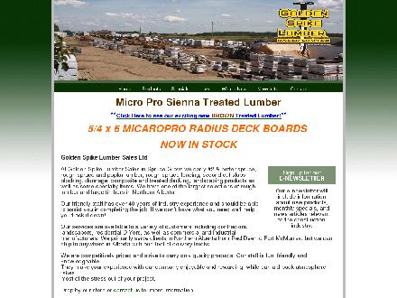 Golden Spike Lumber Sales Ltd (780-962-3160) - Onglet de site Web - http://www.getwood.ca