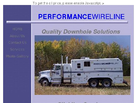 Performance Wireline Ltd (1-888-889-5969) - Onglet de site Web - http://www.performancewireline.com