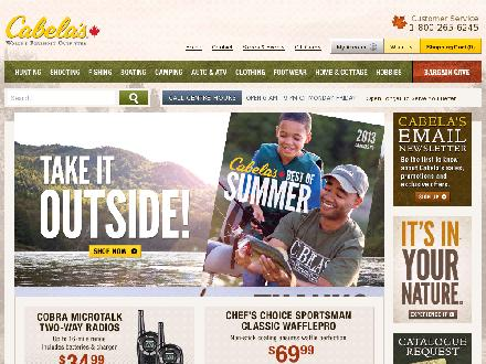 Cabela's Canada (204-786-8966) - Website thumbnail - http://www.cabelas.ca