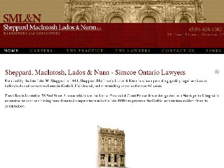 Sheppard MacIntosh Lados &amp; Nunn (519-426-1382) - Onglet de site Web - http://www.sheppardmacintosh.com