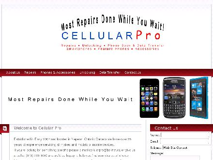 Cellular Pro (613-596-1000) - Website thumbnail - http://www.cellularpro.ca/
