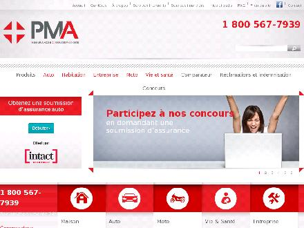 Assurance PMA inc (1-800-567-7939) - Onglet de site Web - http://www.pma.qc.ca