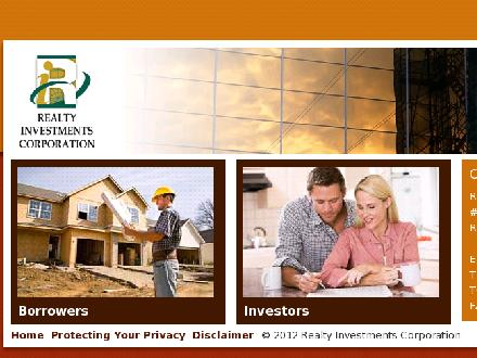 Realty Investments Corporation (403-406-0096) - Website thumbnail - http://www.ricrd.ca